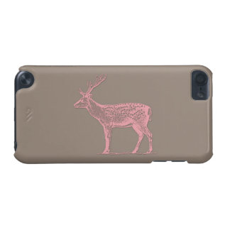 Pink Deer On A Brown Background iPod Touch 5G Case