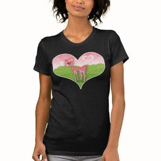 Pink Deerie Heart Tee