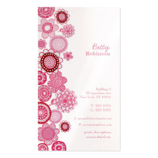 Pink Delight Pearl Ladies Company Business Card