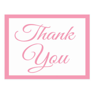 Pink Delight Thank You Greeting Postcard
