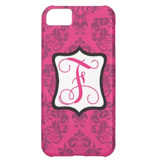 Pink Demure Damask F Cover For iPhone 5C