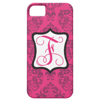 Pink Demure Damask F iPhone 5 Covers