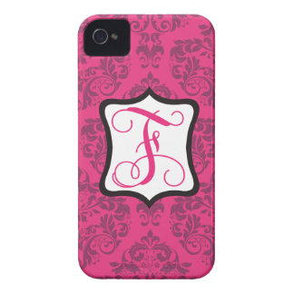 Pink Demure Damask F iPhone 4 Covers
