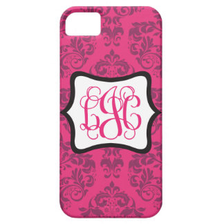 Pink Demure Damask LJC iPhone 5 Covers