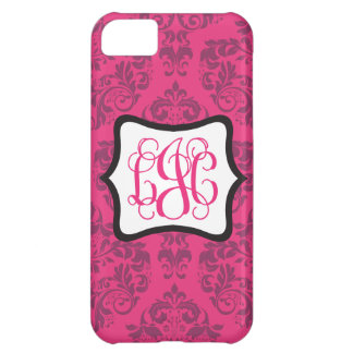 Pink Demure Damask LJC Case For iPhone 5C