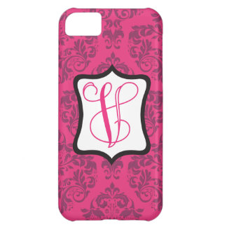 Pink Demure Damask V Cover For iPhone 5C