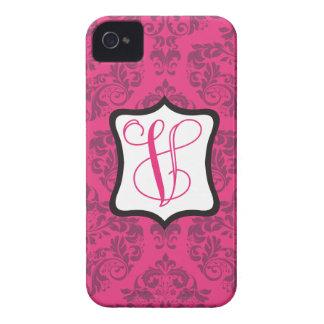 Pink Demure Damask V Case-Mate iPhone 4 Cases