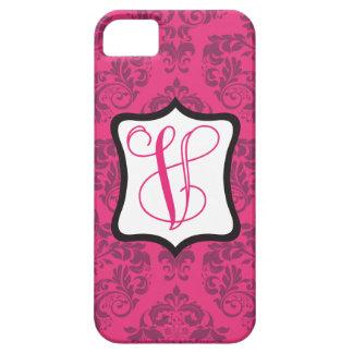 Pink Demure Damask V iPhone SE/5/5s Case