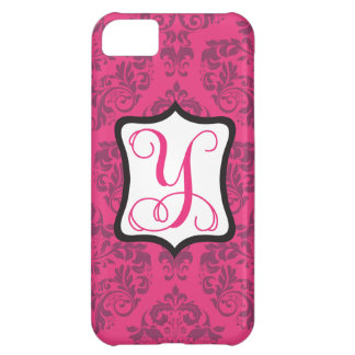 Pink Demure Damask Y iPhone 5C Covers