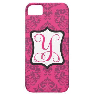 Pink Demure Damask Y iPhone SE/5/5s Case