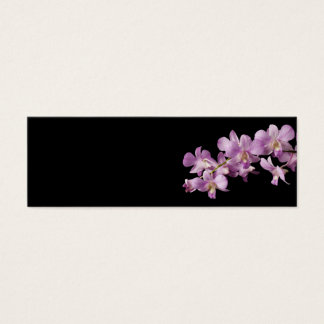 Pink Dendrobium Orchid Flower on Black - Orchids Mini Business Card