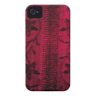 Pink Denim Floral iPhone 4/4s Case
