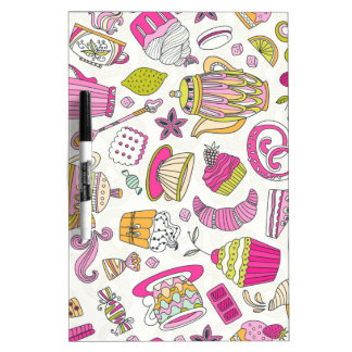 Pink Desert and Sweets Pattern Dry Erase Board