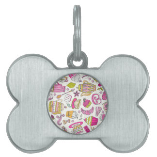 Pink Desert and Sweets Pattern Pet Tag