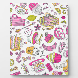 Pink Desert and Sweets Pattern Plaque