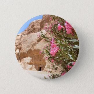 Pink Desert Flowers Button