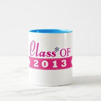 Pink Design Class of 2013 Mug