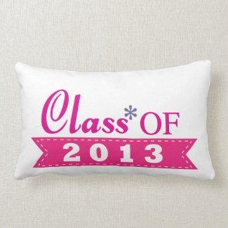 Pink Design Class of 2013 Pillows
