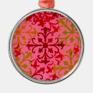 Pink Design Metal Ornament