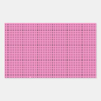 Pink- Design & Patches Rectangular Sticker