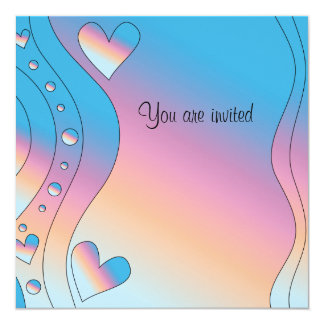 Pink design with hearts card