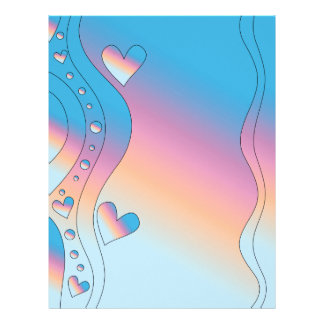 Pink design with hearts letterhead