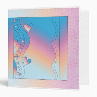 Pink design with hearts vinyl binders