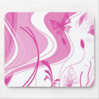 Pink Designed Mouse pad