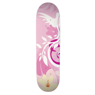"Pink Designer Girls  8½"" Skateboard"