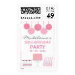Pink Dessert Table Party Birthday Party Postage
