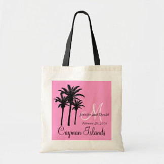 Pink Destination Wedding Tote Bag Palm Trees