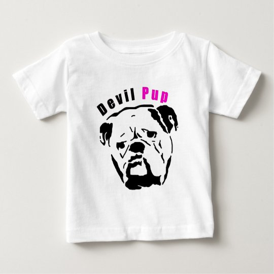 Pink Devil Pup Baby T-Shirt