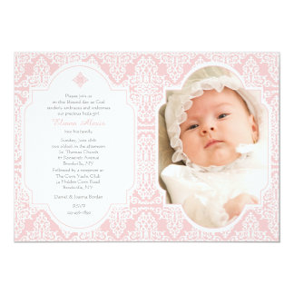 Pink Devotion Religious Photo Invitation