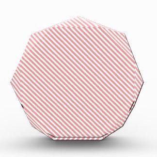 Pink Diagonal Lines Acrylic Award