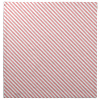 Pink Diagonal Lines Cloth Napkin