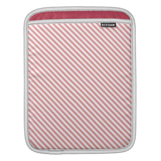 Pink Diagonal Lines iPad Sleeve