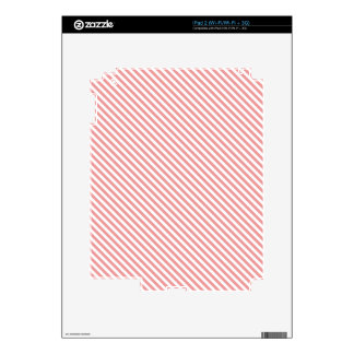 Pink Diagonal Lines Decals For iPad 2