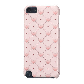 Pink diagonal pattern pink candy hearts iPod touch (5th generation) cover