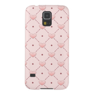 Pink diagonal pattern pink candy hearts cases for galaxy s5