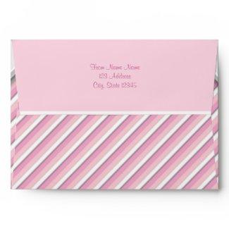 Pink Diagonal Stripe Pearl Pink Envelopes envelope