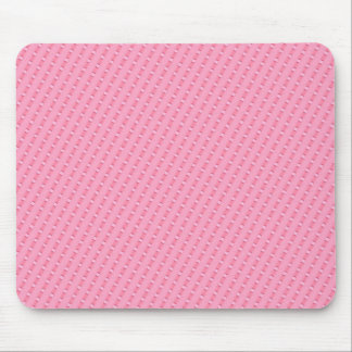 Pink Diagonal Striped Themed Mouse Pad