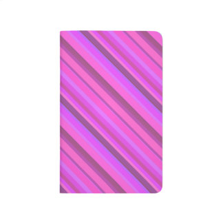 Pink diagonal stripes journal
