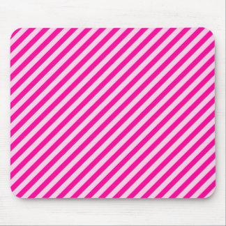 Pink Diagonal Stripes Mouse Pad