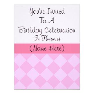 Pink Diamond Birthday Card