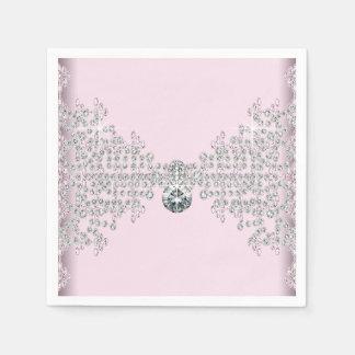 Pink Diamond Birthday Party Paper Napkin