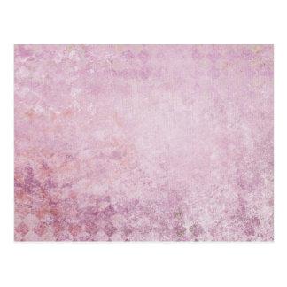 Pink Diamond Collage Background Postcard