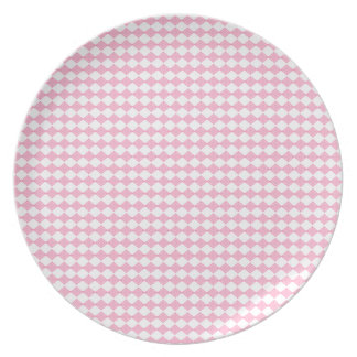 Pink Diamond Dinner Plate, shabby Plate