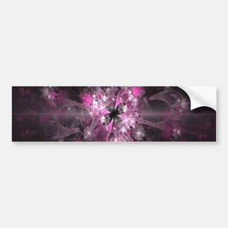 Pink Diamond Fractal Bumper Sticker