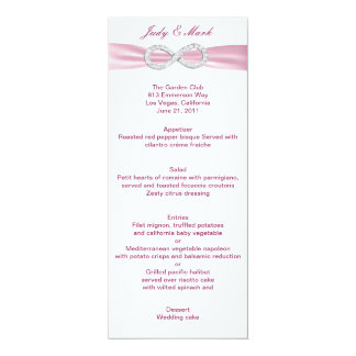 Pink Diamond Infinity Wedding Menu Card