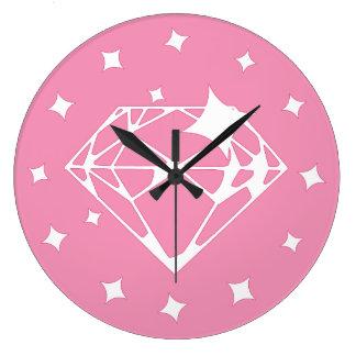Pink Diamond Large Clock